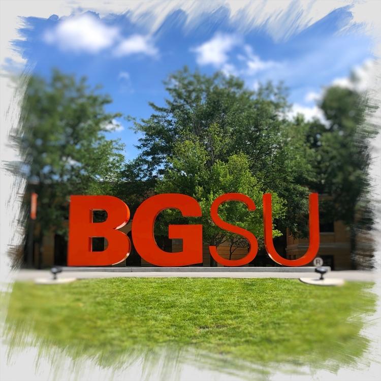 Image of the large BGSU sculpture on campus