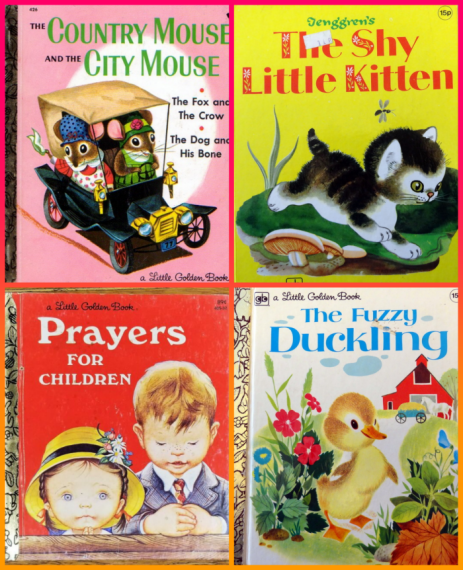 Collection of Little Golden Books from the 1970s and 1980s