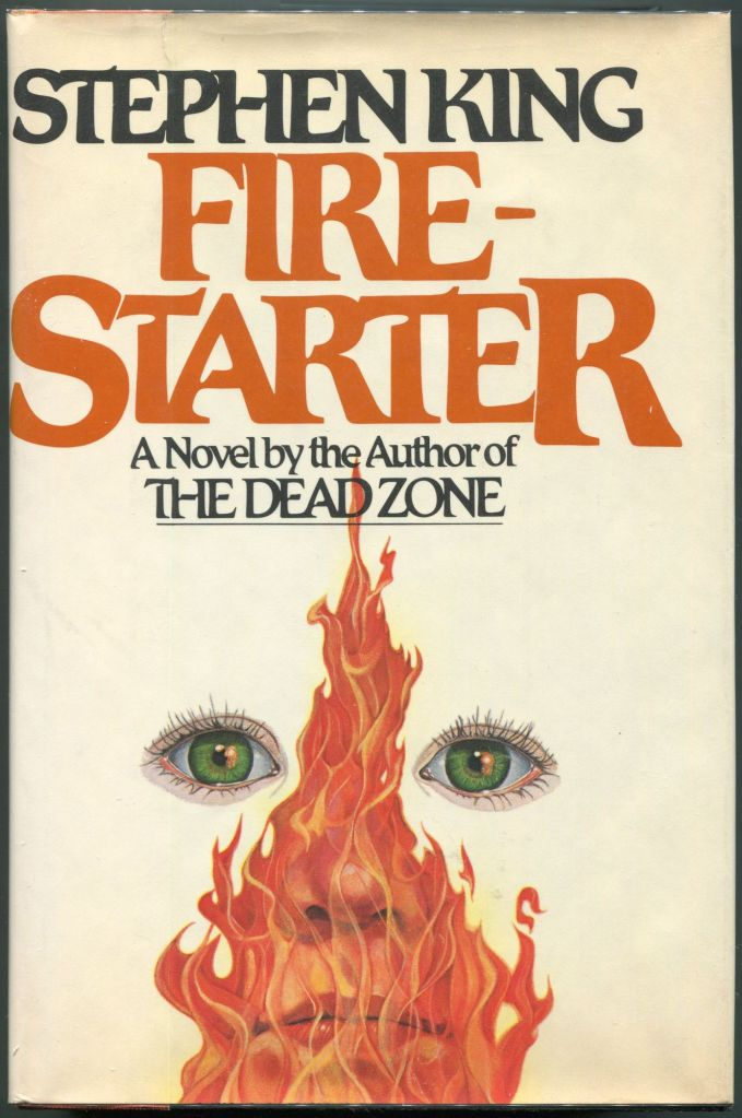 Image of the front cover of the novel Firestarter by Stephen King.